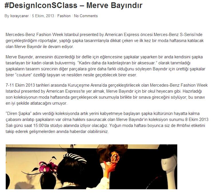 DesignIconSClass Merve Bayındır - www.koraycaner.com