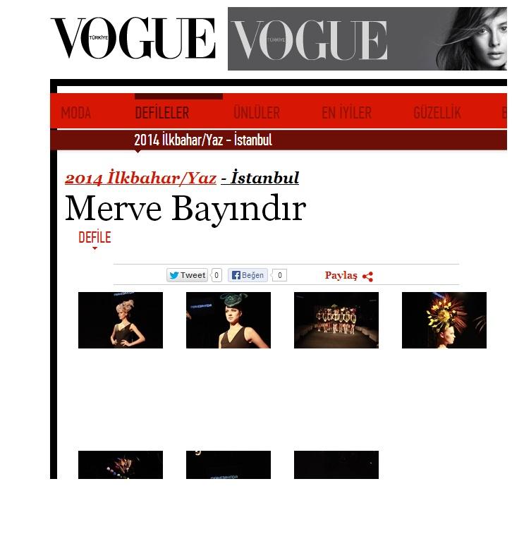 Merve Bayındır SS14 Koleksiyonu ile Vogue Turkiyede
