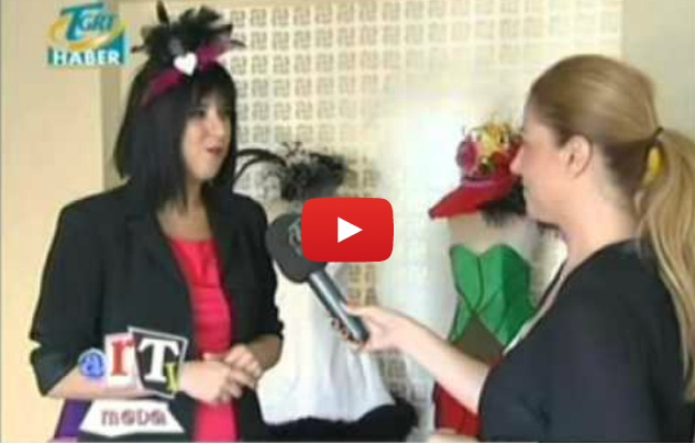 2012 Ağustos TGRT News  - Plus Fashion Program Guest : Merve Bayındır