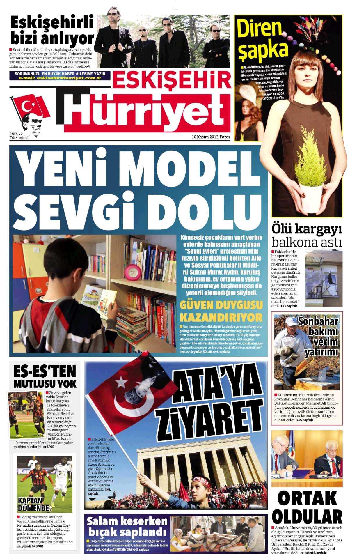 2013 Kasım Hürriyet Eskişehir - Diren Şapka Röportajı